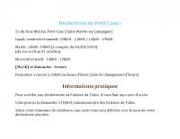 Déchetterie de Petit Caux