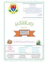 Le T.S.E n°1 mars 2019