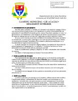 Règlement Intérieur du Camping Municipal 2018