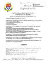 Arrêté permanent de réglementation de l'impasse des Acacias