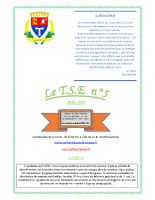 Le T.S.E n°5 août 2020