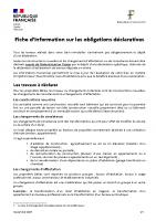 Notice d'information – Principes déclaratifs